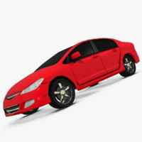 3d model car vehicle honda