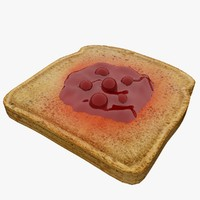 3d model bread current jam