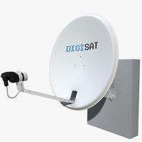 3ds max satellite antenna