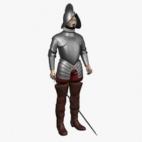 conquistador soldier body dxf