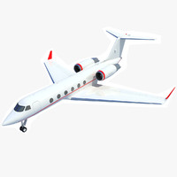 3d gulfstream iv business jet model