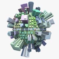 city planet 3d model