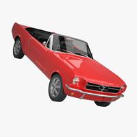 3d mustang convertible 1964 model