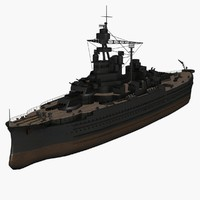 3d uss pennsylvania bb-38 vessel