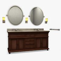 3d st james vanity model
