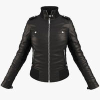 3d female jacket clothing model