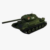 3d t 34-85 tank 34 model