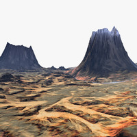 3d model landscape terrain