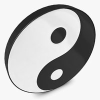 3d model of yin yang
