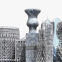 3dsmax modern buildings