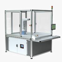 lab robot cell 3d model