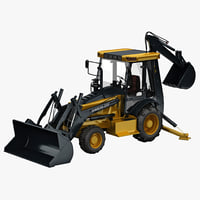 3d backhoe loader sinoway model