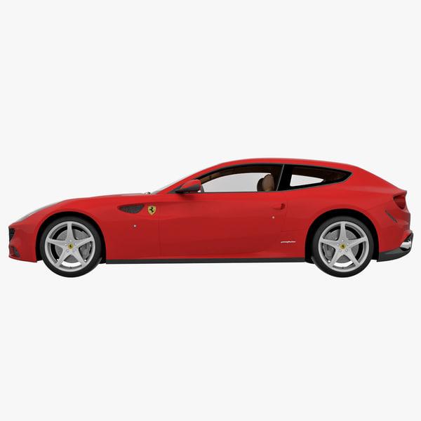 3d Model Ferrari Ff 4 Seater 2013