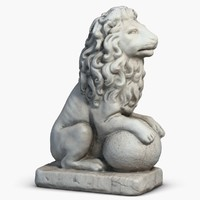 Stone Lion Sculpture 3 Small