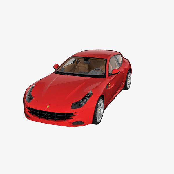 Ferrari 4 Seater: 3d Model Ferrari Ff 4 Seater 2013