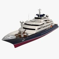 3d mega yacht model