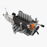 3d ferrari v12 engine gearbox model