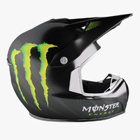 shark helmet monster energy 3d max