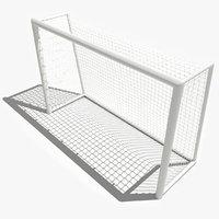 3d model futsal goal