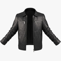 realistic male jacket 3d model