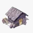 hut 3D models