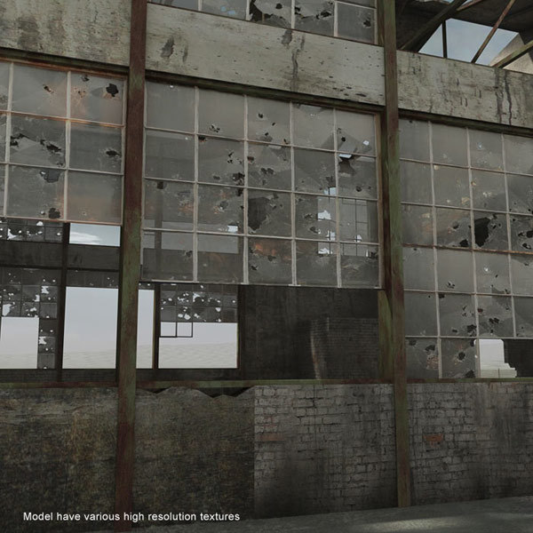 3d interior ruined warehouse model - Interior Warehouse Ruin... by 3D_Multimedia