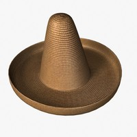 straw sombrero 3d 3ds