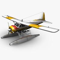 3d plane sea model