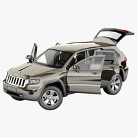 Jeep Grand Cherokee 2012 Rigged