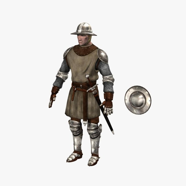 3d foot soldier medieval model for Foot soldier