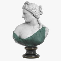 3d model bust aphrodite kallipygos