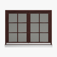 double window 3d model