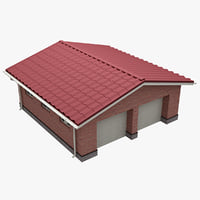 3d garage v2 model