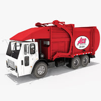 3d model realistic garbage truck 2