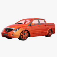 ssangyong actyon lowrider 3d max