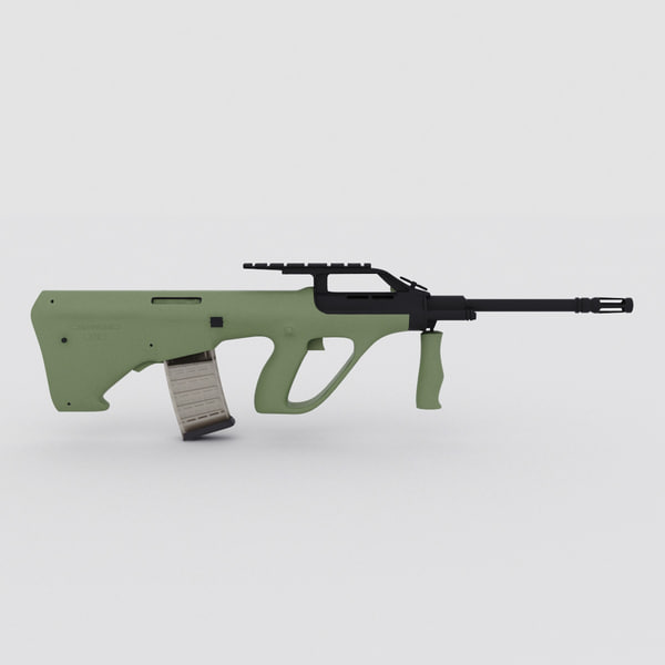 steyr aug a2 3d model - Steyr AUG A2... by 3d_molier