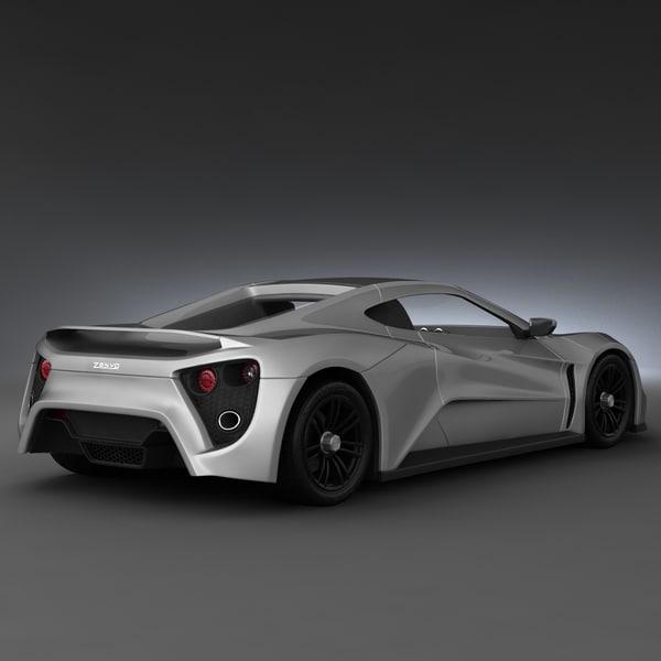 max realistic supercar zenvo st1 - Supercar Zenvo ST1    by 3d molierZenvo St1 Supercar