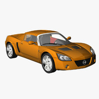 opel speedster 2005 3d model