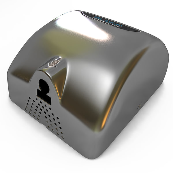 electronic hand dryer sloan c4d - Electronic Hand Dryer Sloan... by 3d_molier