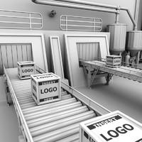 Interior Factory Scene