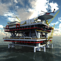 3ds max oil rig