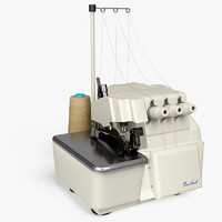 overlock sewing machine 3d model