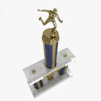 3d soccer trophy model