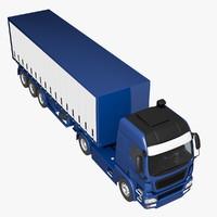 generic truck trailer 3d c4d