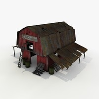 old wooden barn 3d model