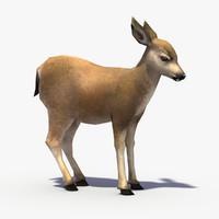 3d model deer fawn
