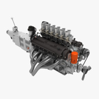 3d model ferrari v12 engine