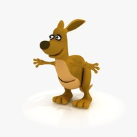 3d cartoon kangaroo rig