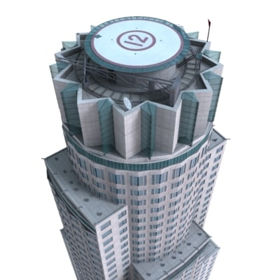 3ds max library tower - Library Tower... by FraP