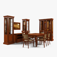 3d model dining room furniture